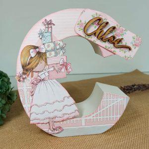 letras decoradas cartón craft