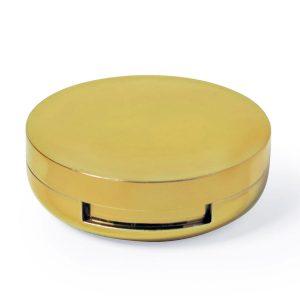 labial con espejo dorado