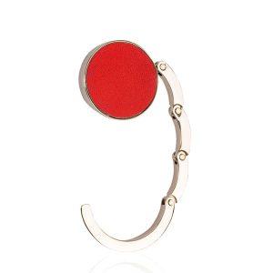 cuelga bolso rojo