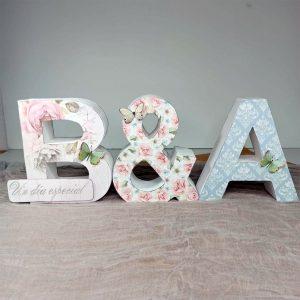 Letras decoradas craft